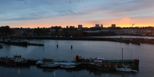 Amsterdam_harbor_sunset