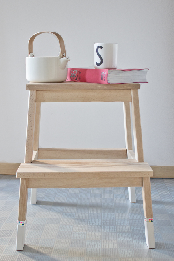 Diy Ikea Stepping Stool Upgrade Look What I Made