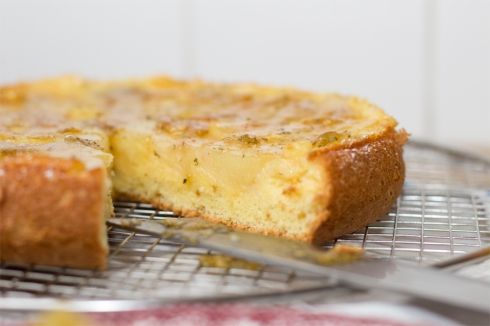 Rosemary-apple-upside-down-cake