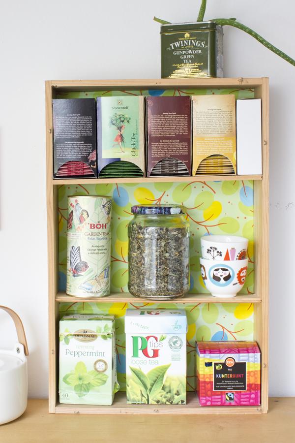 Wine Box To Tea Shelf