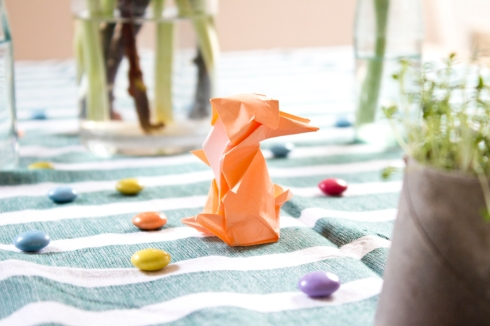 easter-table-origami-bunny