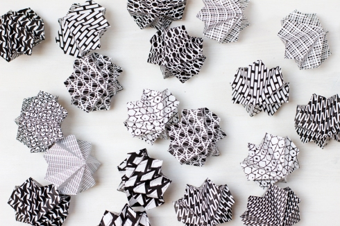 Origami-diamonds