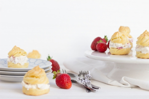 strawberry-choux-pastry-summer-dessert