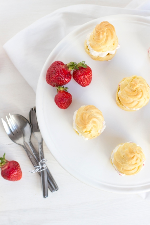 strawberry-choux-pastry